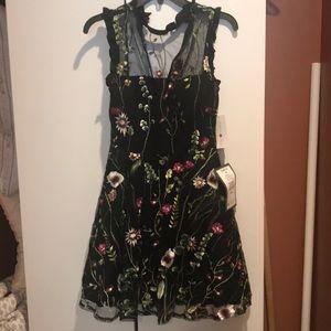 Semi formal dress with mesh